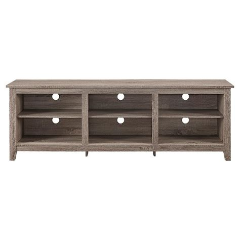 70 quot wood media tv stand storage console driftwood