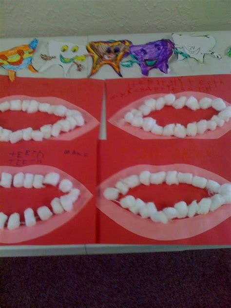 construction paper and teeth on