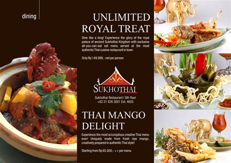 restaurant promotion feast like the royalties at sukhothai thai restaurant