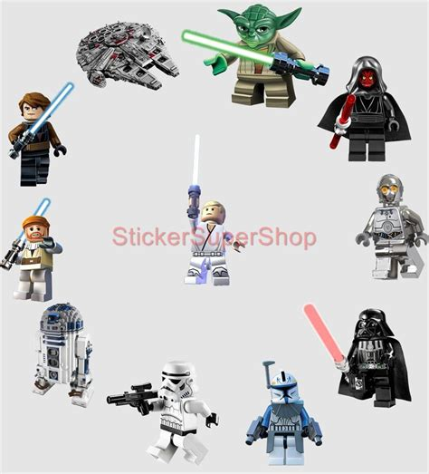 wars lego wall stickers lego wars 11 characters decal removable wall sticker