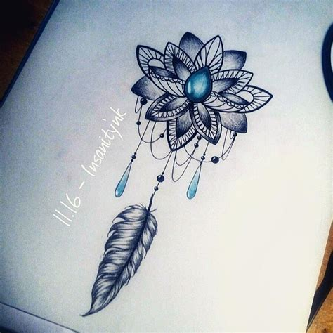 tattoo lotus feather pin by euri toscano on tattoos pinterest flower