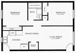 Bedroom Floor Plan With Measurements by Colonial Village Floor Plans