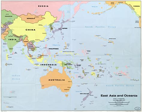 detailed map of asia large scale detailed political map of east asia and