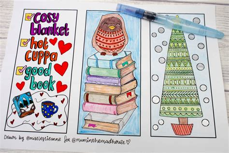 printable seasonal bookmarks winter colouring bookmarks mum in the madhouse