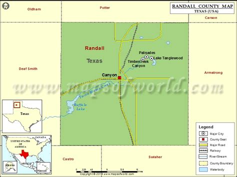 map of texas showing amarillo randall county map texas