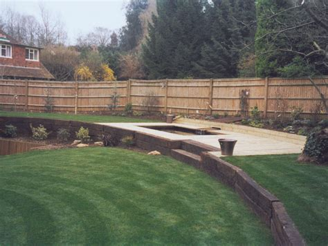 Sevenoaks Sleepers by Adl Timber Structures Walling Garden Landscaping Sevenoaks