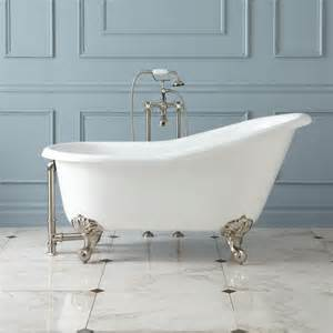 claw bathtubs 57 quot erica cast iron slipper clawfoot tub imperial