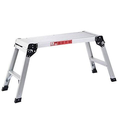 aluminum folding work bench giantex hd en131 aluminum platform drywall step up folding