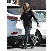 Halle Berry Dons A Semi See Through Knit Sweater To Takes
