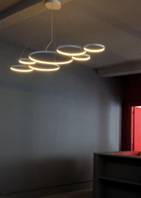 Lu Ring Light led direct indirect light pendant l ultra8 by le deun