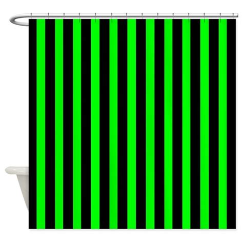black and green shower curtain black and neon green stripes shower curtain by coolpatterns