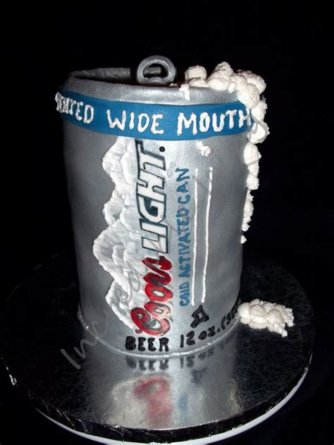 coors light can cake groom s cakes and s cakes