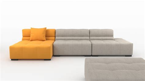 tufty time sofa tufty time sofa by bb italia 3d model max obj 3ds fbx mtl