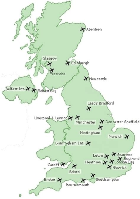 map uk airports pin doncaster map on