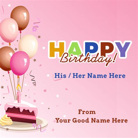 Birthday Card With Name Generator Doc 341512 Happy Birthday Card Generator Happy