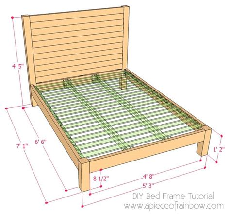 diy bed frame plans free diy bed frame and wood headboard a of rainbow