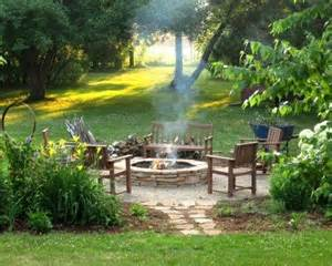 Firepit Area Outdoor Sitting Area With Pit If A House