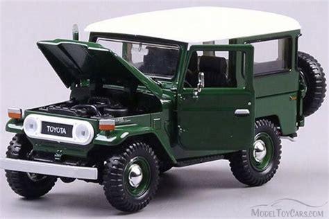 Toyota Jeep Models Toyota Fj40 Jeep Green Motor Max 79323ptm 1 24 Scale