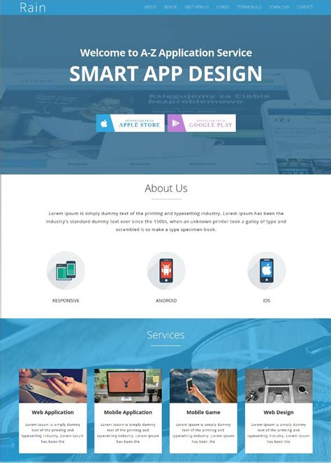 landing page templates for android app 15 free landing page themes template product app