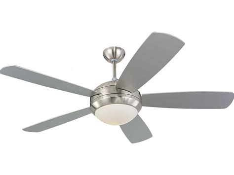 monte carlo ceiling fans monte carlo fans discus brushed steel 52 wide indoor