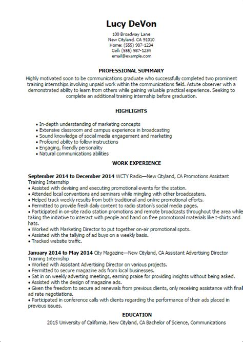 Internship Resume Sle by Sle Cover Letter For Unpaid Internship 28 Images Sle