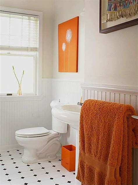 orange and black bathroom the new neutrals infusing bold color into the home