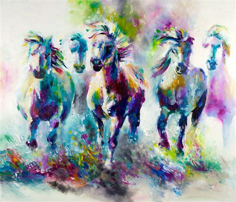 katy jade dobson chroma equus oil painting the