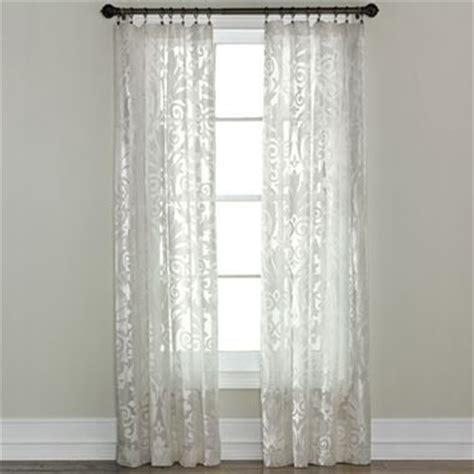 jcpenney royal velvet curtains royal velvet 174 ravenna rod pocket sheer panel jcpenney