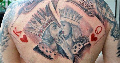 tattoo poker queen cards king and queen of hearts tattoo by sam phillips nz