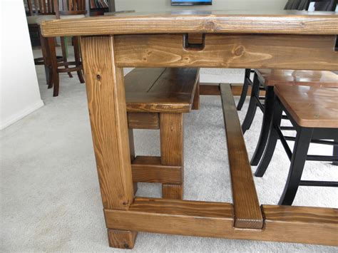 Farm Table And Bench Ana White Farmhouse Table Bench And Extensions Diy