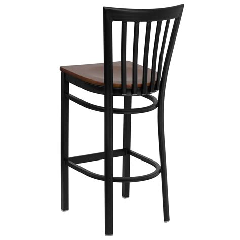 Black Wooden Bar Stool Furniture Light Brown Wooden Bar Stools With Back On Black Wooden Frame And Base Also Black