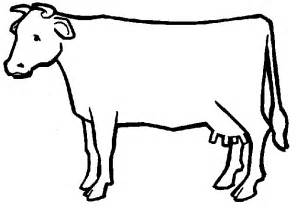 Cow Drawing Outline by Outline Of A Cow Clipart Best