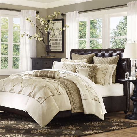 gramercy park elise mini 3 piece ivory comforter set king