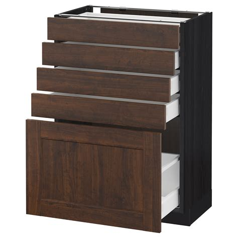 Black Cabinet With Drawers by Metod Maximera Base Cabinet With 5 Drawers Black Edserum