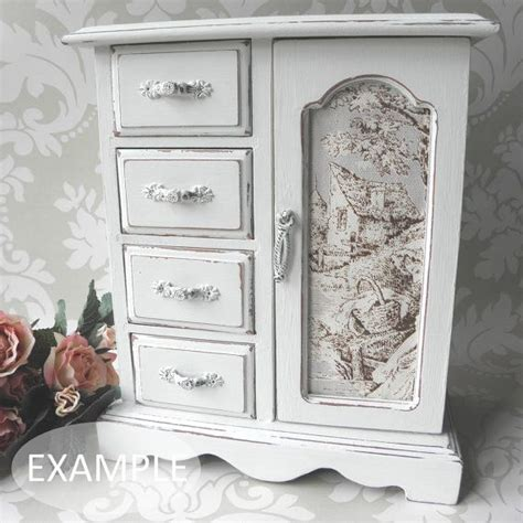 shabby chic jewellery box armoire cabinet case just lovely jewellery box makeovers