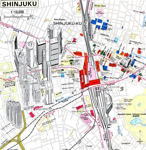printable map tokyo shinjuku tokyo japan tourist map shinjuku tokyo japan