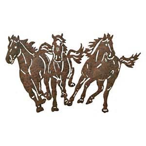 three running horses metal wall decor at hayneedle