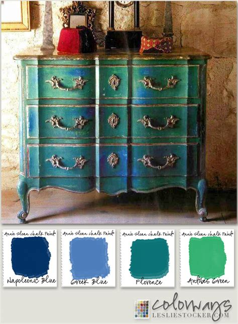 chalk paint blue colors sloan blues greens colorways with leslie stocker