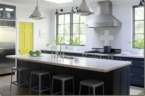 accent color for white and gray kitchen yellow color accents jazz up elegant dark gray kitchen