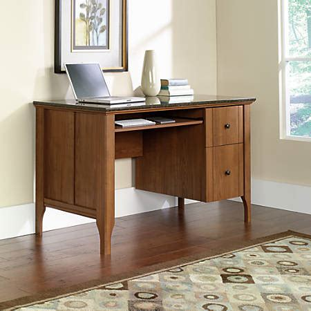 faux marble top desk sauder appleton faux marble top computer desk sand pear by