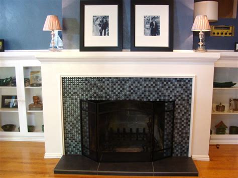 tile fireplace makeover fireplace makeovers before and afters from house crashers