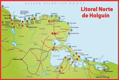 playa hotel map holguin guardalavaca playa pesquero
