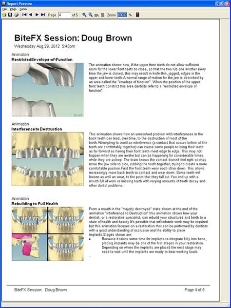 dental treatment plan reports