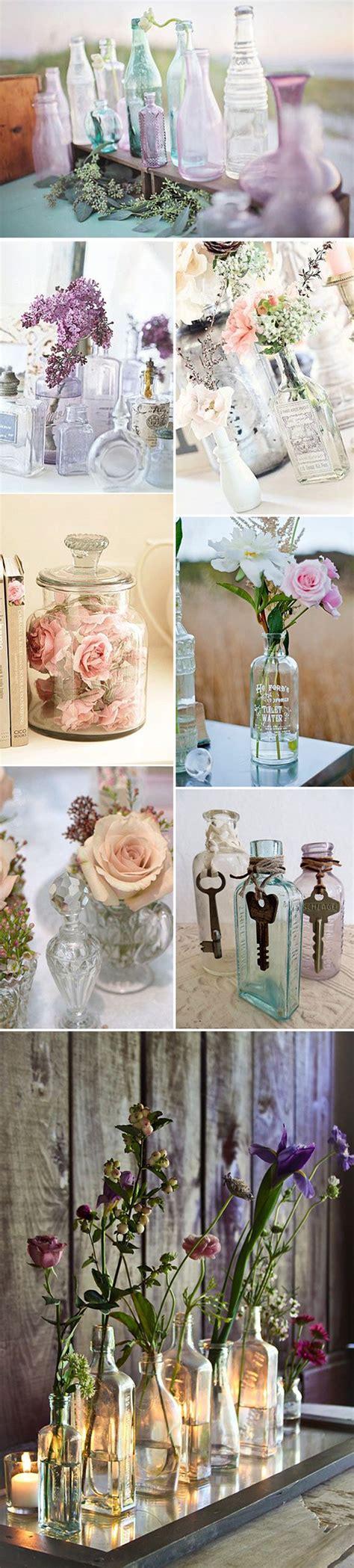 decorar botellas de vidrio vintage ideas para decorar con botellas de cristal estilo vintage