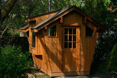 crafted cedar potting shed by whim wood custom
