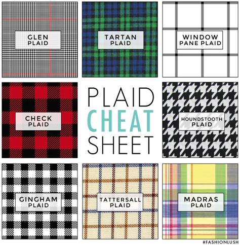 pattern type name plaid fashion habits