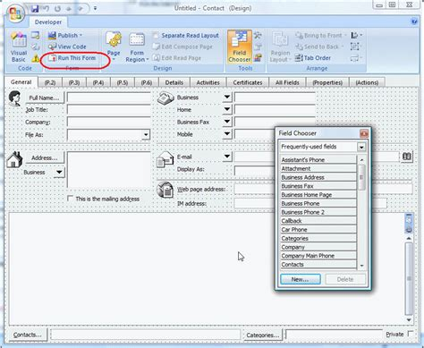 design this form outlook 2013 using microsoft outlook s forms designer outlook tips