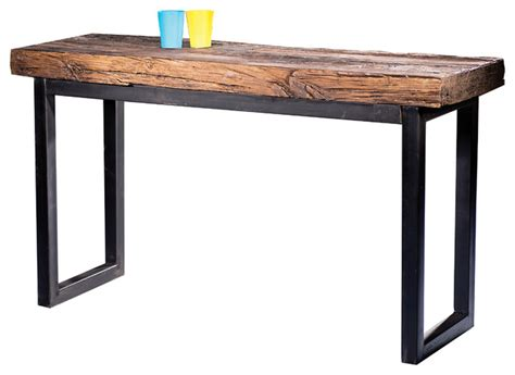 Distressed Dining Room Chairs Arbor Railroad Wood Console Table Rustic Console