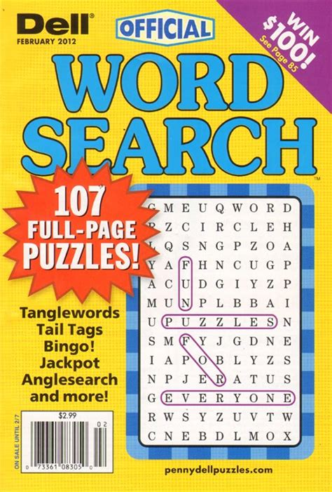 Magazine Word Search Dell Official Word Search Puzzles Magazine Puzzle