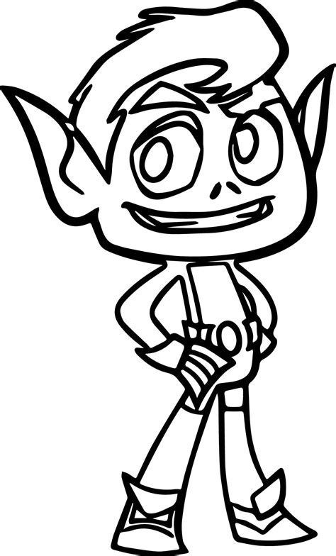 teen titans go beast boy coloring teen titans go beast boy good coloring page coloring